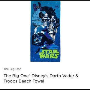 Star Wars, Darth Vadar blue beach towel, new